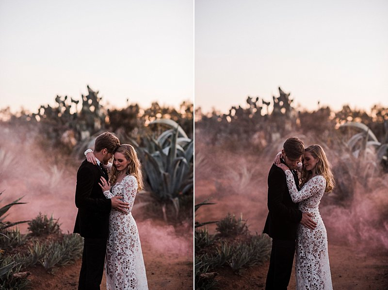 Cactus Country Wedding, Junebug Weddings, Cactus country, Cactus weddings, International wedding photographer, Australian Wedding Photographer, Kara Jade Designs, Regnier Cakes, Naomi Rose Florals, Sally Rose White Label, Myography, Briggins Suits, Agates Australia, Cactus Floral, Smoke bombs