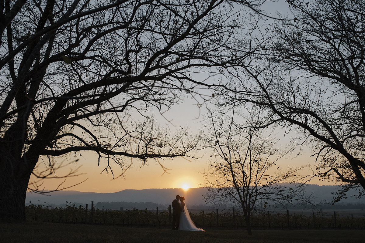Yering Station Wedding, Yering Station, Yarra Valley Wedding, Yarra Valley Sunset, Yering Station Sunset, Bride, Groom, Autumn wedding, Raffaele Cuica Bridal Couture, Matt Finch Celebrant, Sugarbee FlowersYering Station Autumn Wedding,