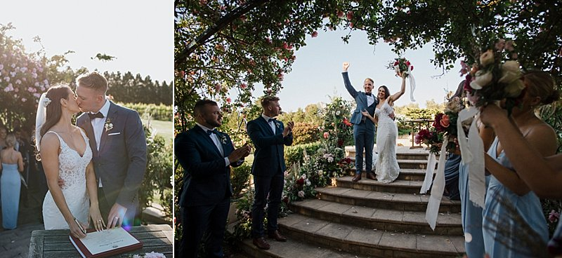 Mornington Peninsula Wedding, Coastal Wedding, Private property wedding, Wedding sunset, Pop up with Style, Bethanylee Flowers, Nikki Fox Films, Luxe Film House, Outdoor Reception