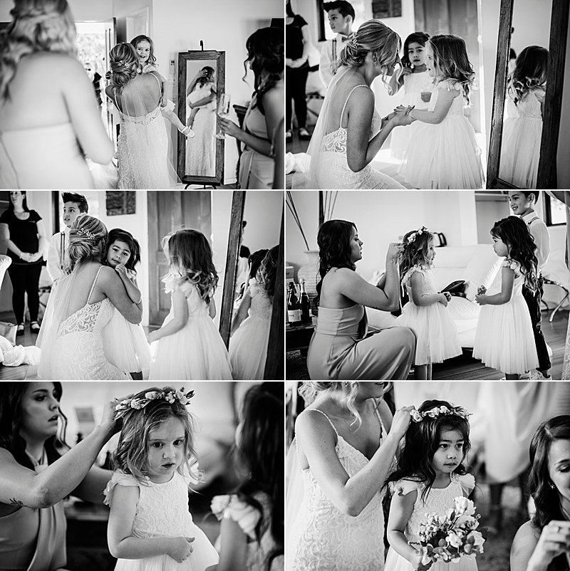 Immerse Winery Wedding, brides prep, wedding combi, immerse winery, winery wedding, yarra valley wedding photographer, yarra valley weddings, wedding dress, flower girls