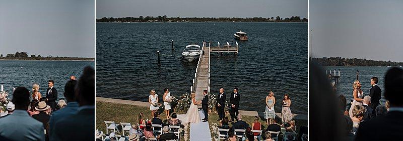 Metung Wedding, Gippsland Wedding, Ivory Tribe real wedding, private property wedding, bride style, bluebell bridal, MJ Bale Groom, Beachside Wedding Ceremony