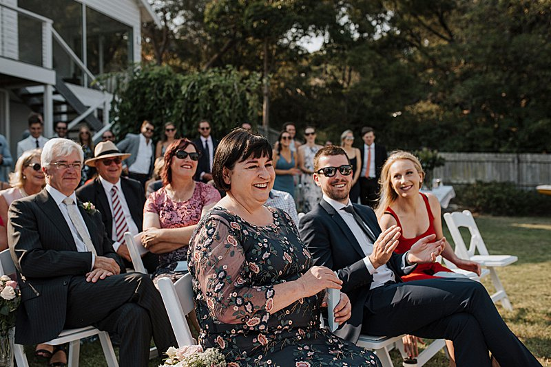 Metung Wedding, Gippsland Wedding, Ivory Tribe real wedding, private property wedding, bride style, bluebell bridal, MJ Bale Groom, Beachside Wedding Ceremony