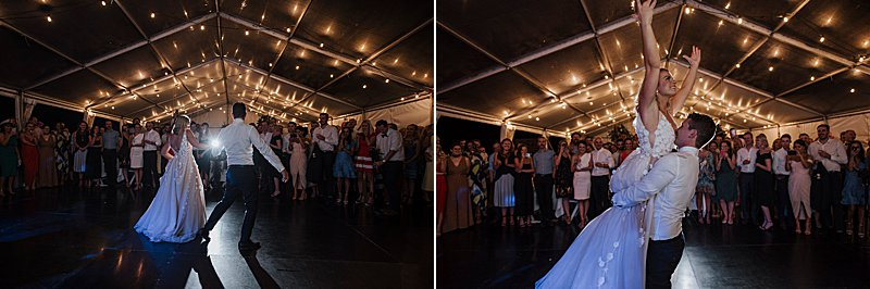 Metung Wedding, Gippsland Wedding, Ivory Tribe real wedding, private property wedding, bride style, bluebell bridal, MJ Bale Groom, Metung Yacht Club Reception, first dance