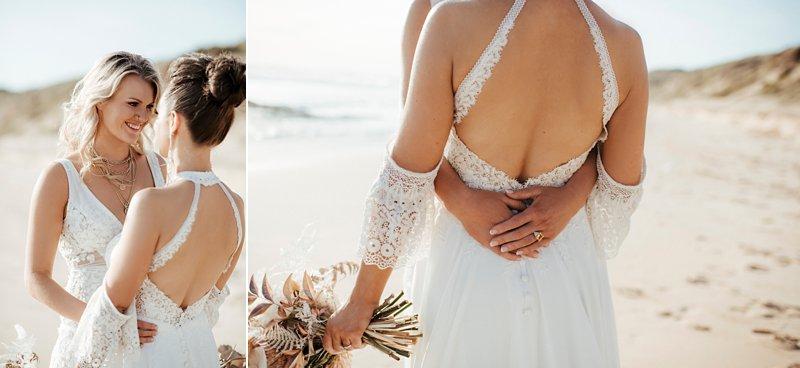 Same Sex coastal wedding, Beach wedding
