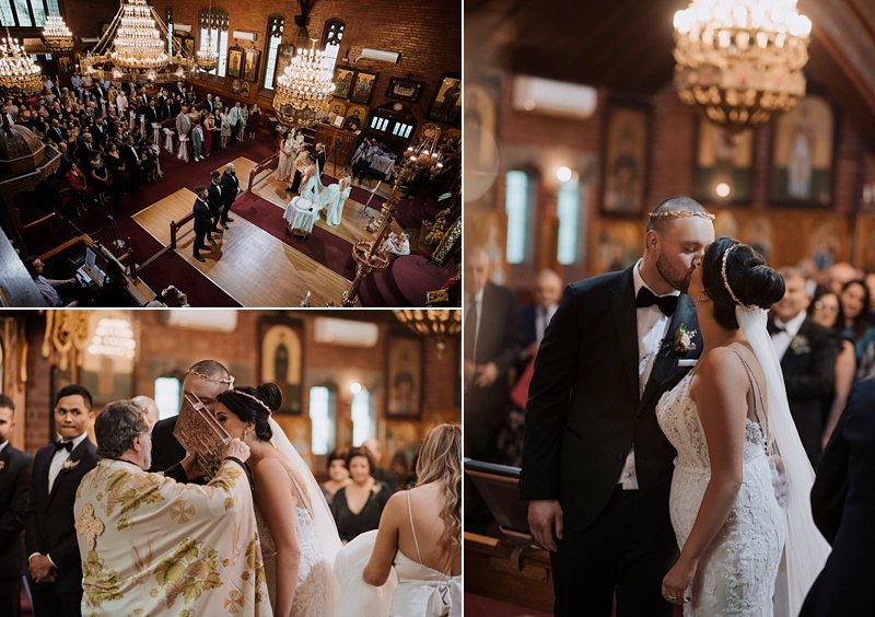 greek wedding ceremony St Catherine's Church