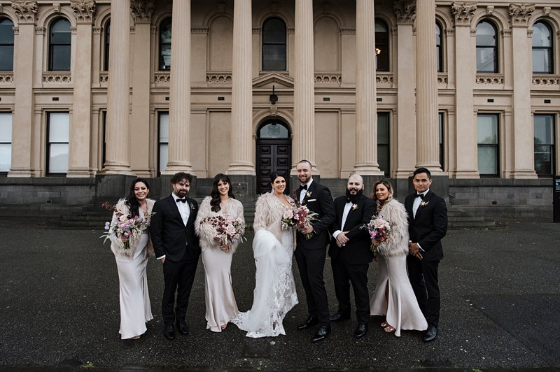 South Melbourne Town Hall wedding photos winter