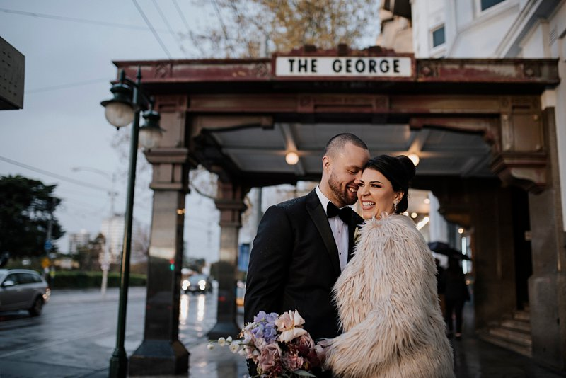 George Ballroom wedding photos, winter wedding st kilda
