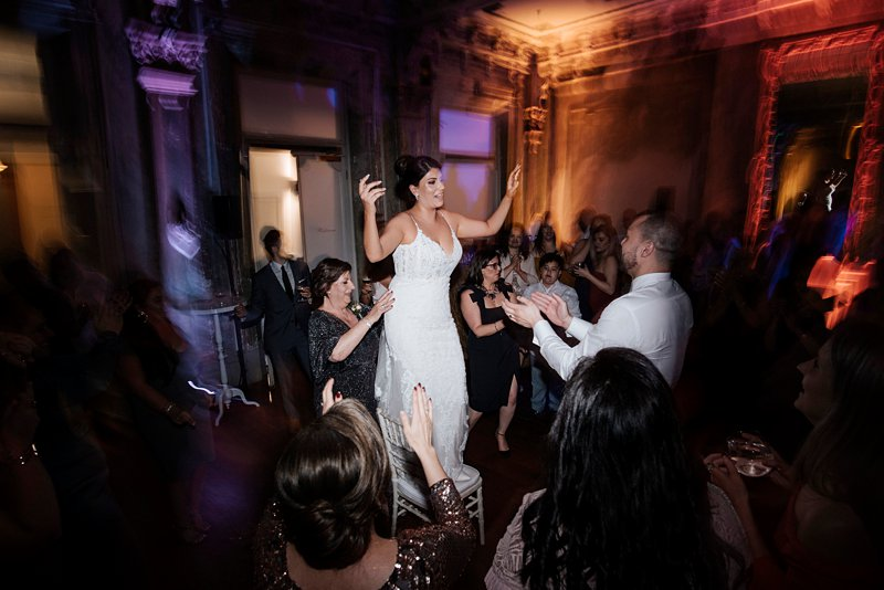George Ballroom wedding dancing, bride on dance floor