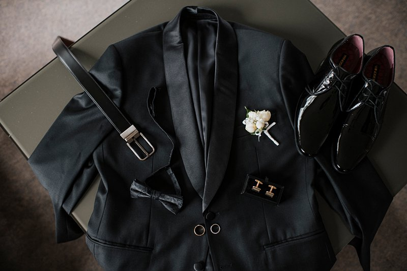 Briggins Groom suit, Black on Black groom suit, Groom details