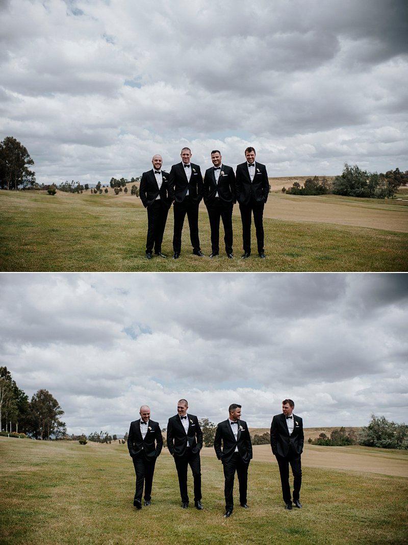 Groomsmen portraits Yarra Valley Lodge