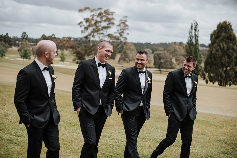 Groomsmen walking shots Yarra Valley Lodge