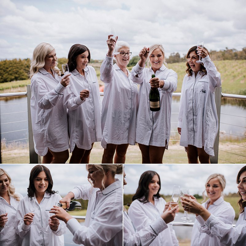 Bridesmaids Champagne shots