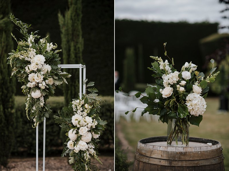 Coombe ceremony flowers