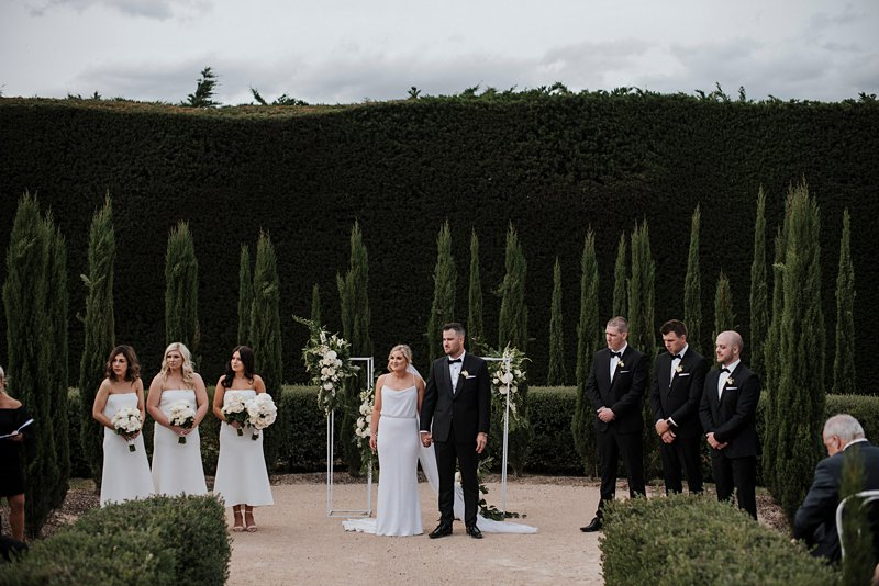 Garden ceremony at coombe yarra valley