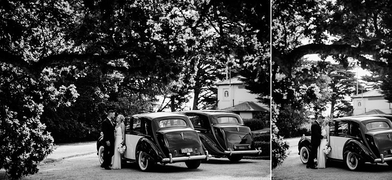 Melba Estate wedding photos, bw car photos