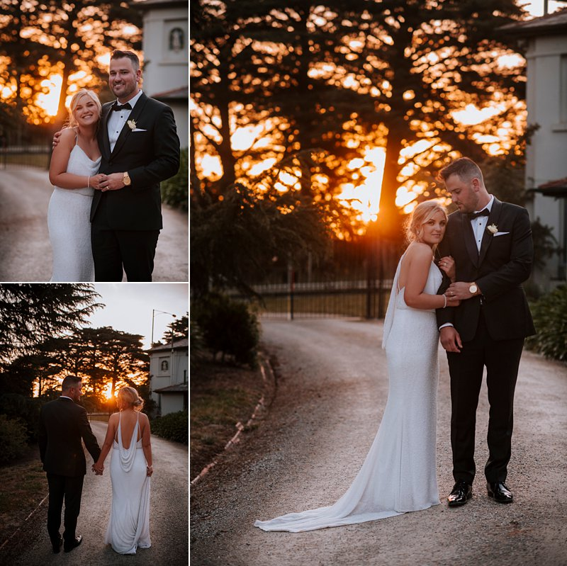 Coombe Yarra Valley Sunset Wedding portraits