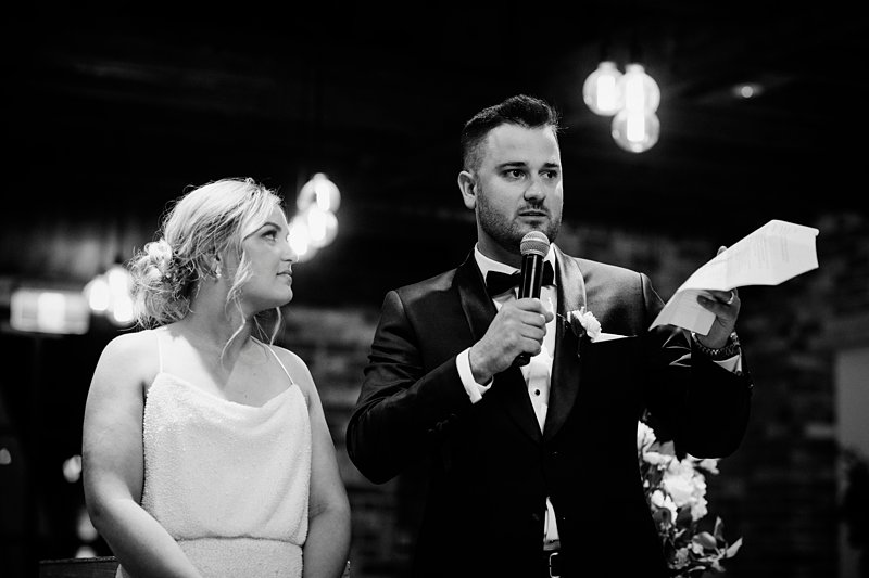Coombe wedding reception groom speech