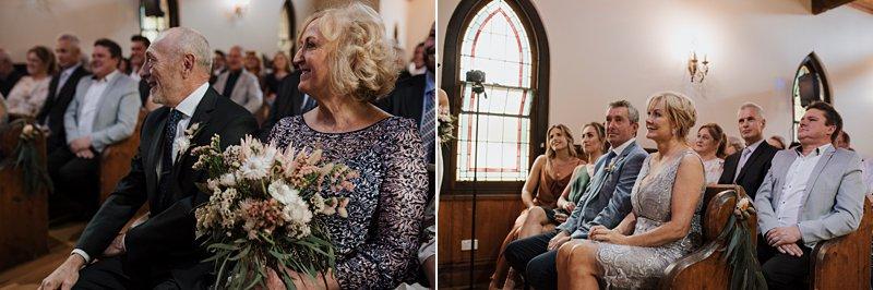 Inglewood Estate Wedding, Chapel wedding, rustic chapel, groom crying, Andrew Redman Celebrant