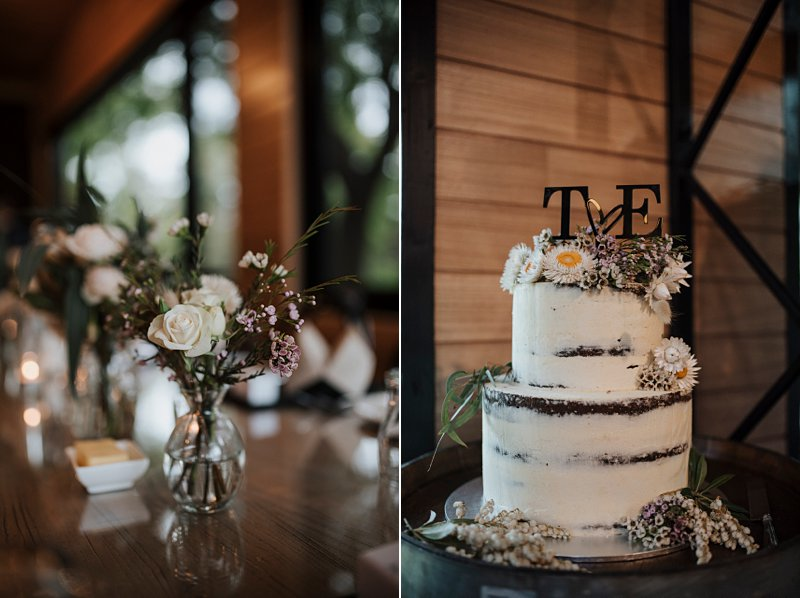 Inglewood Estate Wedding, Chapel wedding, Moonstruck Bride, Table details, Naked Cake