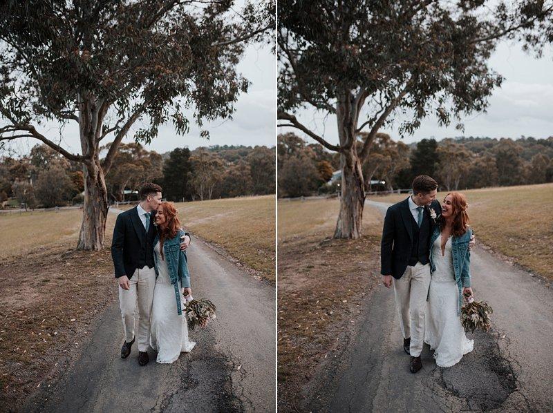 Inglewood Estate Wedding, Chapel wedding, Moonstruck Bride, Mrs James Denim Jacket, Bride in denim jacket
