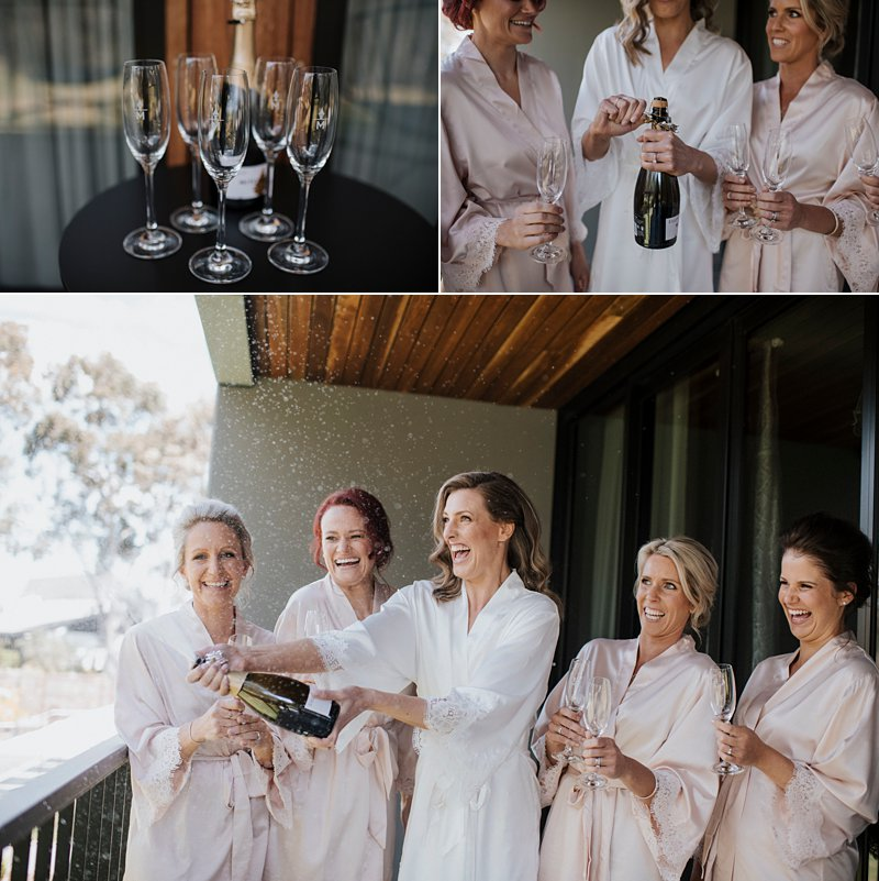 Michelton Winery Wedding, Michelton Winery Hotel, Bride Prep, Champagne Pop