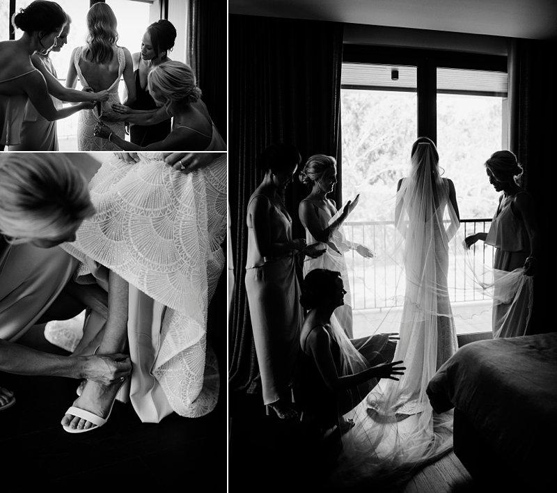 Michelton Winery Wedding, Michelton Winery Hotel, Bride Prep, Jane Hill Bridal Dress, Bridesmaids