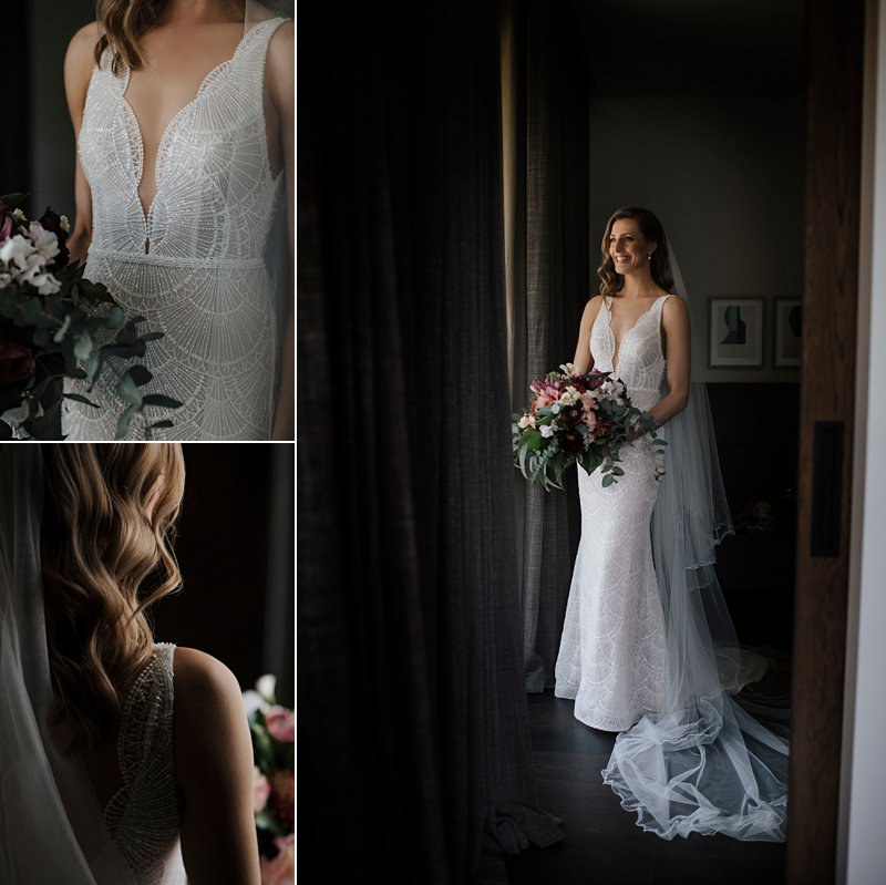 Michelton Winery Wedding, Michelton Winery Hotel, Bride, Jane Hill Bridal Dress, Kate Hill Flowers, Bride Portraits