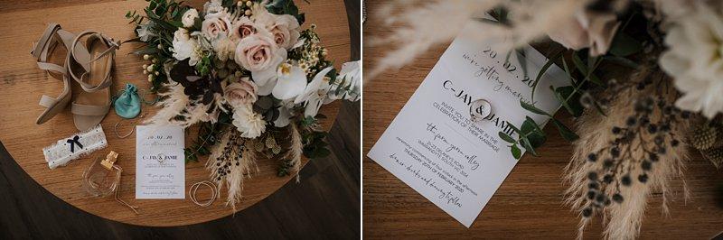 floral details, brides details, rustic wedding invite
