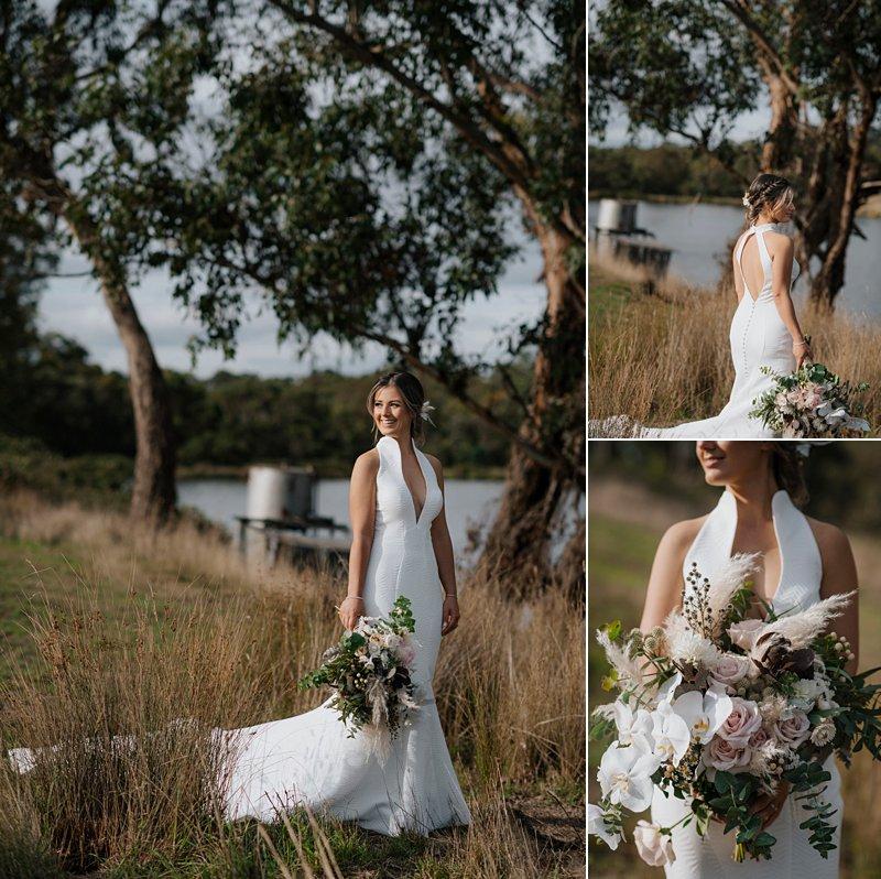 Bride portraits, Fairytales Bridal Dress, Jean Fox Dress, stunning halter neck wedding dress