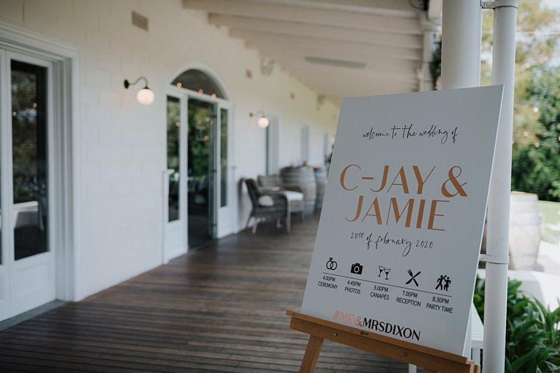 Wedding signage, Tha Farm Wedding