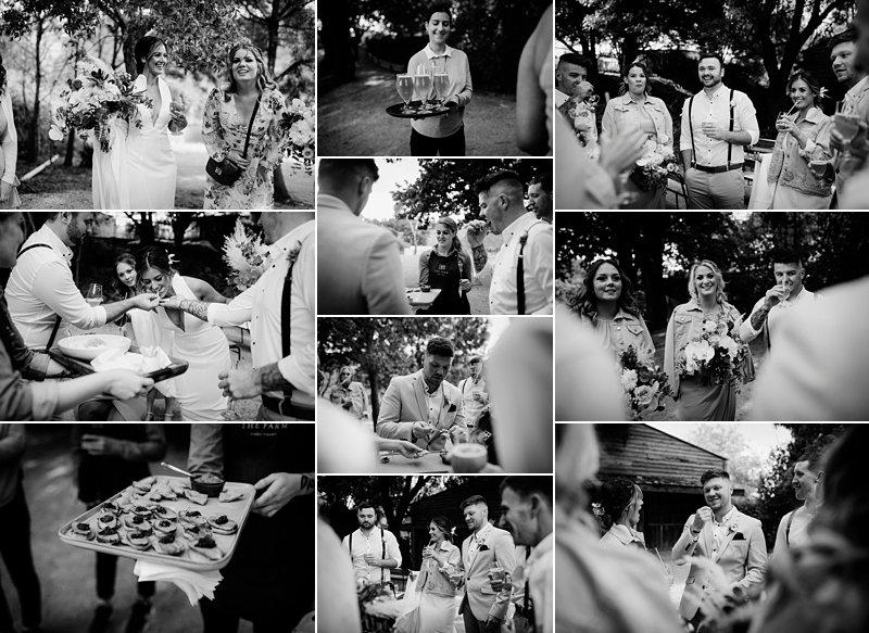 Candid Bw Bridal party shots, The Farm Rustic wedding