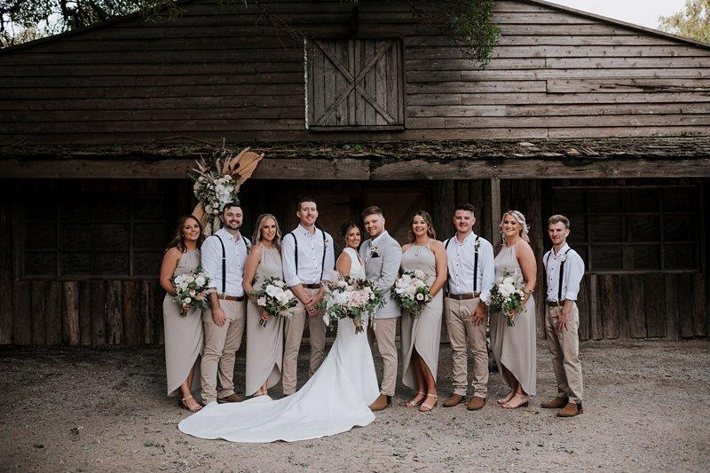 Rustic Barn Wedding, Bridal Party, The Farm Wedding