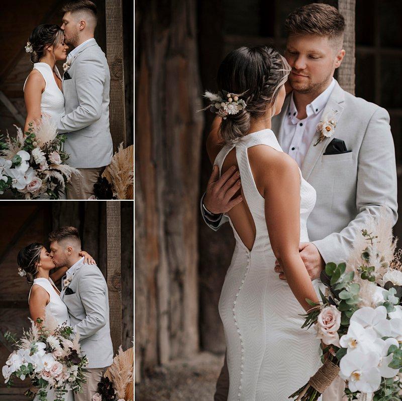 Rustic Barn Wedding, Bridal Couple, The Farm Wedding