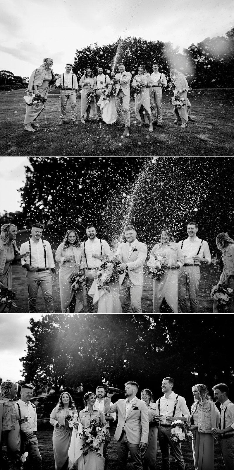 The Farm Yarra Valley, Champagne Spray, Bridal Party