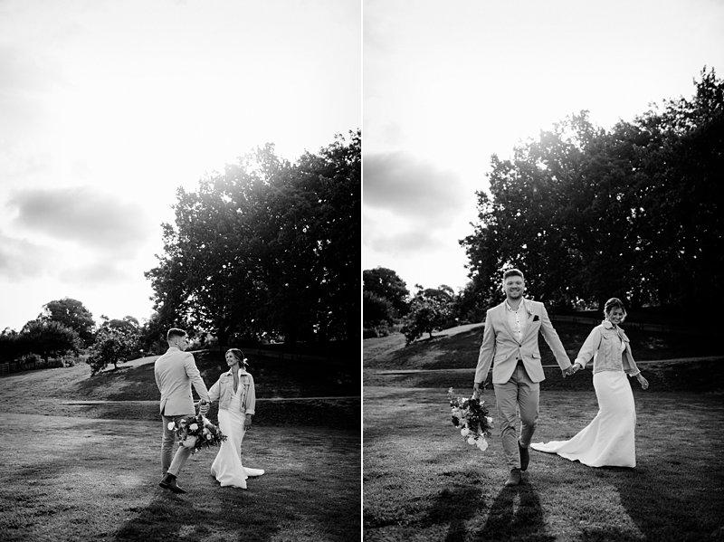 Bride's denim jacket, The Farm Rustic Wedding