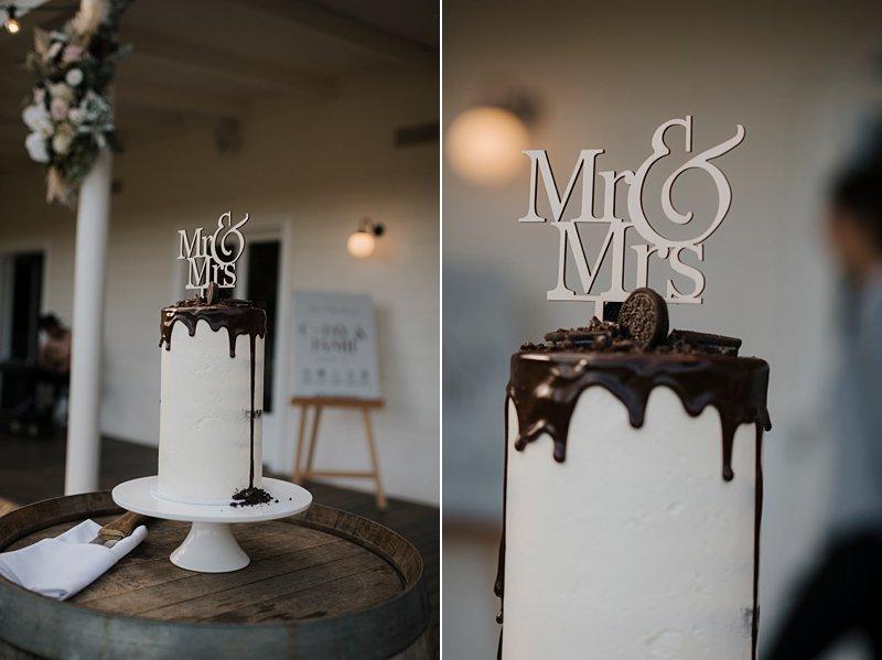 The Farm Yarra Valley, Wedding Cake, Chocolate Drizzle cake