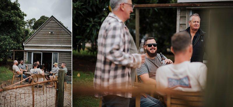 Wandin Park Estate wedding, Farm Wedding, Groom relaxing