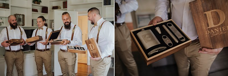Wandin Park Estate wedding, Farm Wedding, Groom getting ready, groomsmen gifts