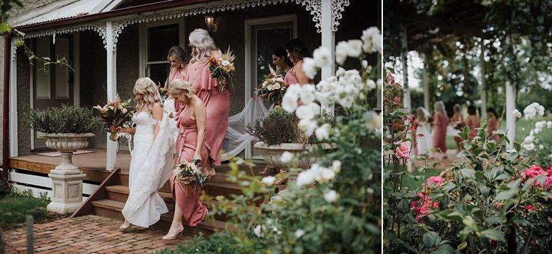 Wandin Park Estate wedding, Farm Wedding, Bride getting ready, Bride getting dressed, Eternal Bridal Gown, rustic flower bouquet, rust Shona Joy dresses