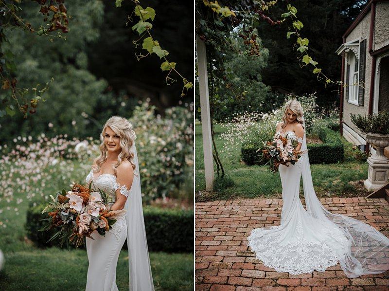 Wandin Park Estate wedding, Farm Wedding, Bride getting ready, Bride getting dressed, Eternal Bridal Gown, rustic flower bouquet,