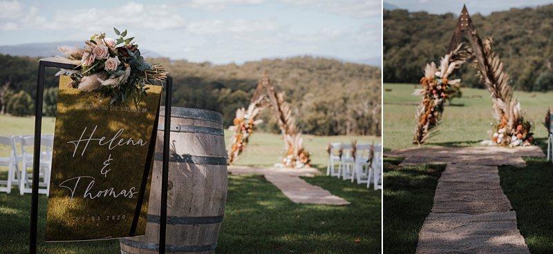 Wandin Park Estate wedding, Farm Wedding, Rustic Timber Arch,