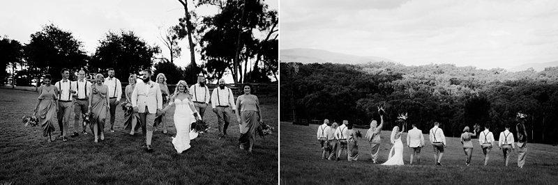 Wandin Park Estate wedding, Farm Wedding, Bridal Party Shoot, Groomsmen no jackets, Shona Joy rust bridesmaids dresses