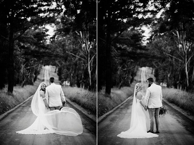 Wandin Park Estate wedding, Farm Wedding, Eternal Bridal Gown, Rustic flower bouquet, Groom cream linen blazer
