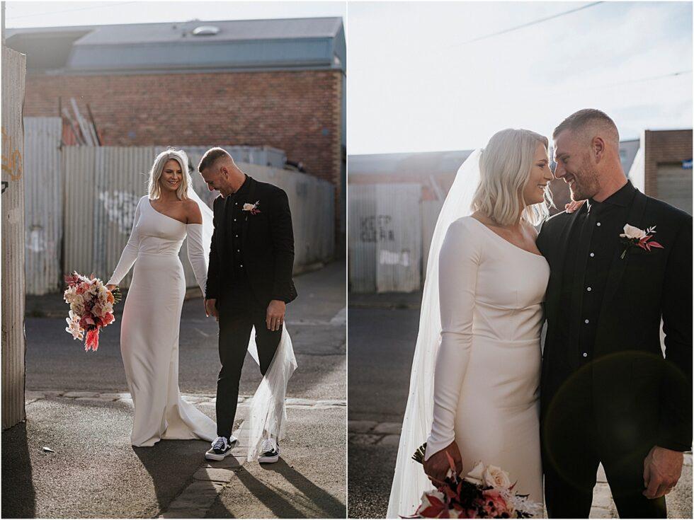 Twelve South Bridal, Emily Membrey Elopement , Tim Membrey AFL, Warehouse City Style Elopement