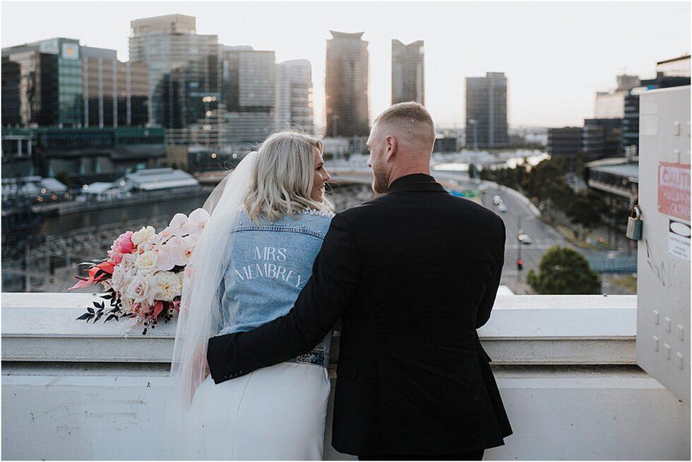 Twelve South Bridal, Emily Membrey Elopement , Tim Membrey AFL, Rooftop City Style Elopement